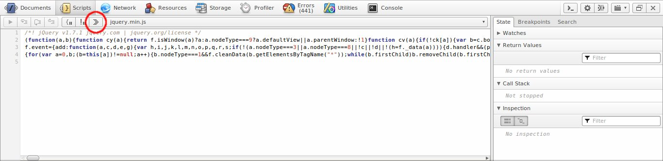 jQuery, in all its minified glory.